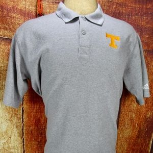 Adidas Large Gray Polo Embroidered UT Vols Power T